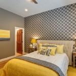 4-tapet cu imprimeu geometric amenajare dormitor mic