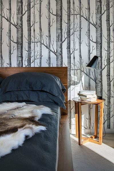 4-tapet decorativ cu imprimeu vegetal amenajare dormitor tendinte 2016