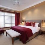 4-textile si draperii Marsala decor dormitor elegant