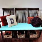 4-trei scaune identice transformate intr-o bancuta simpatica
