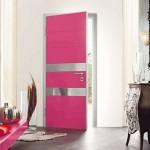 4-usa de interior roz cu argintiu decor locuinta moderna
