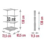 4-uscator de rufe stativ Meliconi 33 metri liniari
