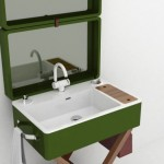 4-valiza verde cu lavoar ceramica baie design marca olympia