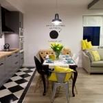 4-varianta de realizare trecere intre gresie si parchet laminat living open space modern