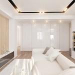 4-vedere din living spre dressingul din holul apartamentului proiect D3 Design
