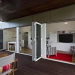 4-vedere spre living si bucatarie open space casa modulara prefabricata de 31 mp
