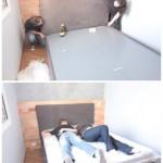 4 asamblare pat cu lada depozitare sub saltea dormitor