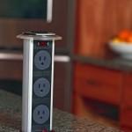 5-adaptor cu 3 prize tip pop-up integrat in blatul din bucatarie