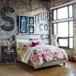 5-amenajare dormitor vintage pereti placati cu caramida aparenta aspect invechit