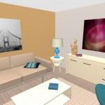 5-animarea decorului prin zugravirea unui perete intr-o culoare de accent