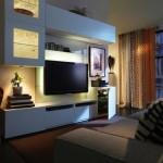 5-ansamblu mobilier alb pentru tv living modern