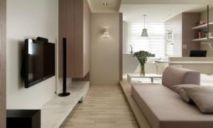 5-apartament modern open space amenajat in nuante de bej