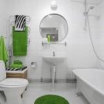 5-baie alba cu accente cromatice culoare verde textile si accesorii