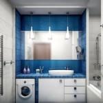 5-baie moderna finisata in alb gri deschis si albastru