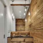 5-baie moderna minimalista rustica pereti placati cu lemn
