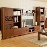 5-biblioteca living din lemn sculptat model Florenza magazin Naturlich