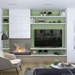 5-biblioteca living modern amenajat in alb gri vernil si bej