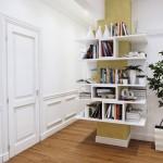 5-biblioteca moderna plutitoare decor stalp living open space