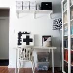 5-birou amenajat in locul fostlui loc de luat masa din living