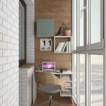 5-birou compact minimalist in amenajarea unui balcon ingust de apartament