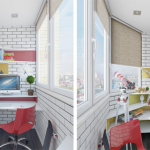 5-birou nic si cochet amenajat in balconul unui apartament