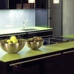 5-blat de lucru din sticla securizata verde fistic decor bucatarie moderna