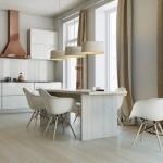 5-bucatarie alba cu masa si scaune albe