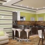 5-bucatarie moderna amenajata pe hol pentru un dormitor in plus