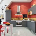 5-bucatarie moderna cu dulapuri vopsite in gri antracit
