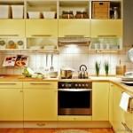 5-bucatarie moderna cu mobilier galben deschis