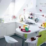 5-bucatarie moderna mobila alba cu vernil