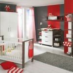 5-camera bebe fetita decorata in alb gri si rosu