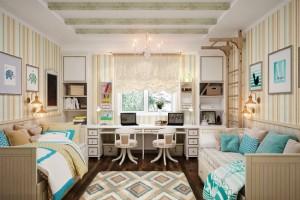 5-camera pentru doi copii amenajata in stil clasic
