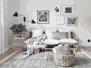 5-canapea rustica compacta structura lemn amenajare living apartament stil scandinav