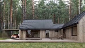 5-casa modulara 112 mp pe colt cu terasa din lemn si pergola pentru masina
