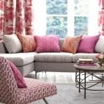 5-combinatii de textile roz si portocaliu amenajae living modern