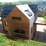 5-corp nou din lemn adaugat structurii originale din piatra casa Normandia Franta