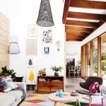 5-covor vesel decor living cu multe romburi colorate