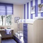 5-decor imprimeu in dungi verticale perete camera copii cu tavane joase