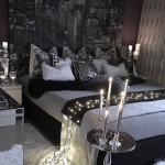 5-decor romantic in amenajarea unui dormitor in alb si negru