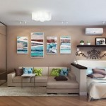 5-delimitare dormitor de living cu ajutorul unui perete semi inalt