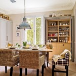 5-dining rustic eco masa din lemn masiv si scaune din rattan marca delounder