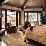 5-dormitor amenajat in stil clasic cu semineu imbracat in piatra naturala