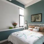 5-dormitor cu mobila alba si pereti cugraviti in gri cu tenta albastruie