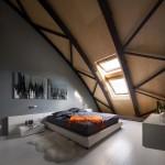 5-dormitor mansardat spectaculos cu acoperisul perete in forma arcuita