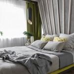 5-dormitor modern in tonuri de gri cu verde crud accent cromatic