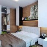 5-dormitor modern perete decorat cu parchet laminat