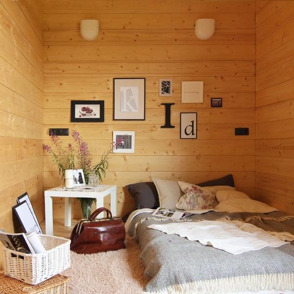 5-dormitor rustic scandinav casa prefabricata din lemn Arca
