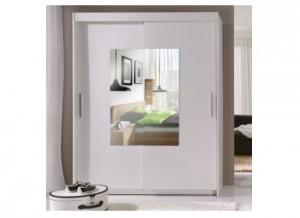 5-dulap alb cu usi glisante potrivit in amenajare dormitor scandinav