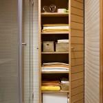 5-dulap din lemn decor baie moderna finisata in bej alb si caramiziu